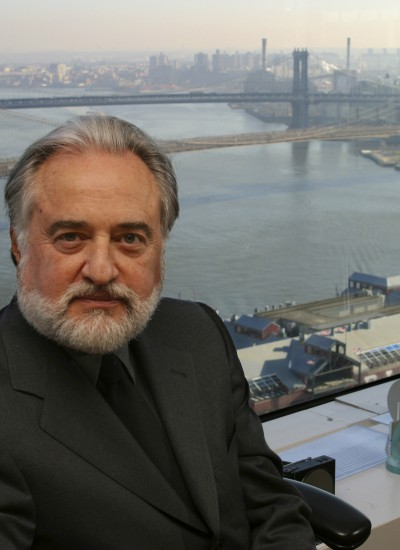 Ralph Applebaum in his New York office overlooking the Brooklyn Bridge.