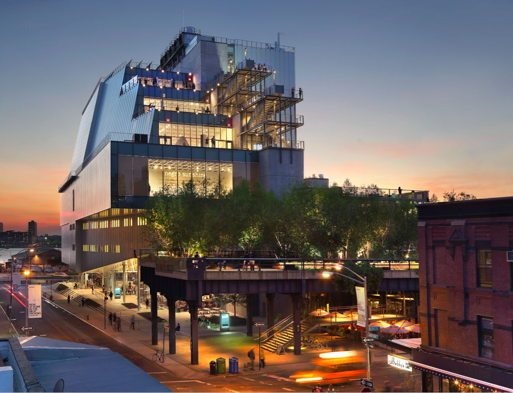 Whitney Museum of American Art. View from Gansevoort Street. Photographed by Ed Lederman, 2015